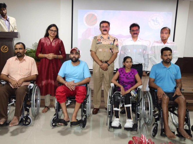 Four Persons were given Active Wheelchairs in the same Event