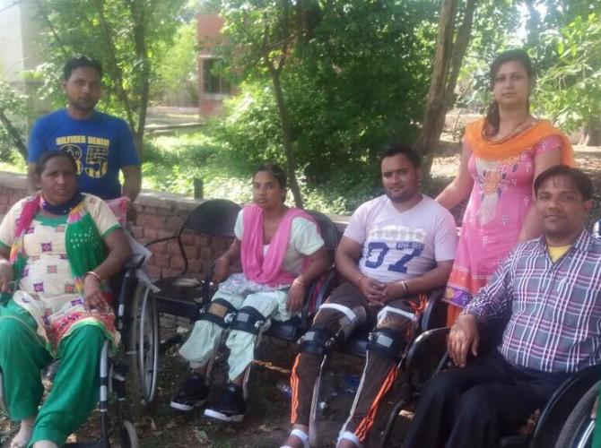 Gurinder Coordinator SCIA with Rajiv, Rani and Kamlesh at Red Cross Ambala
