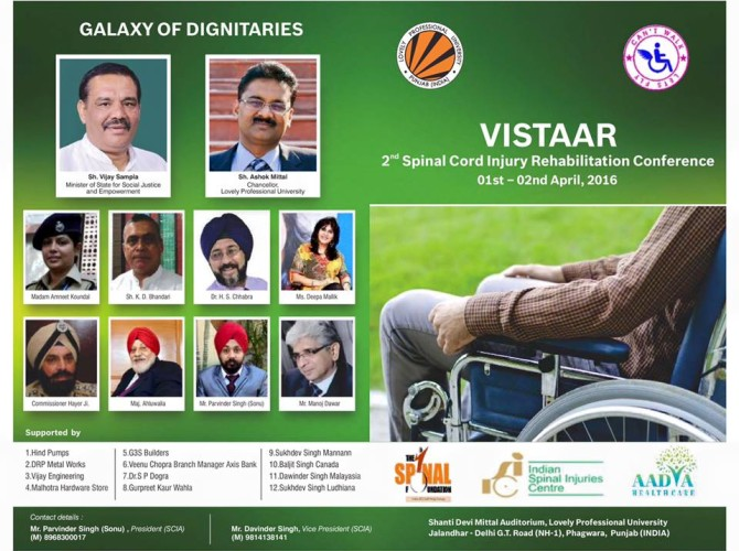 Vistaar 2nd Spinal Cord Rehabilitation Conference